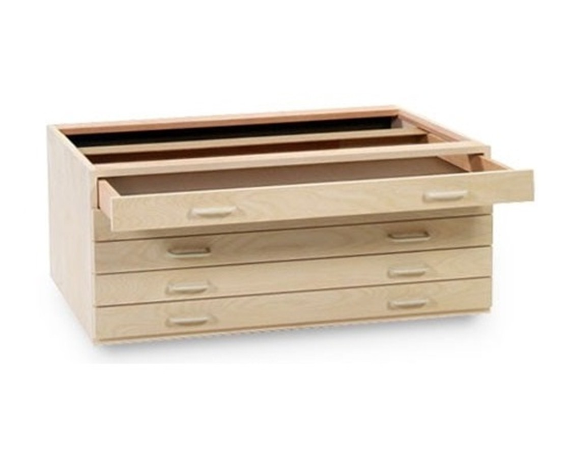 SMI 5 Drawer Birch Plan File for 18 x 24 Inch Sheets 1824-5DB