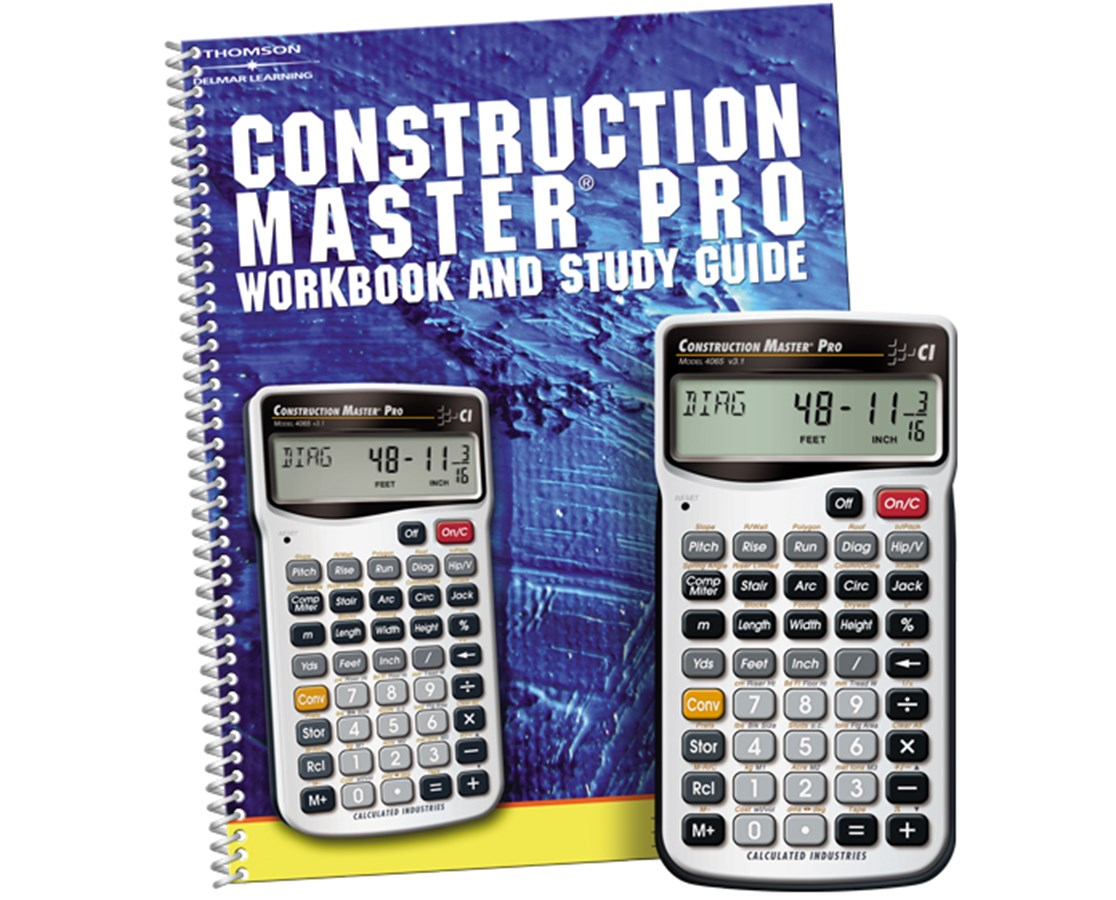 Calculated Industries Construction Master Pro with Workbook 4065-2140