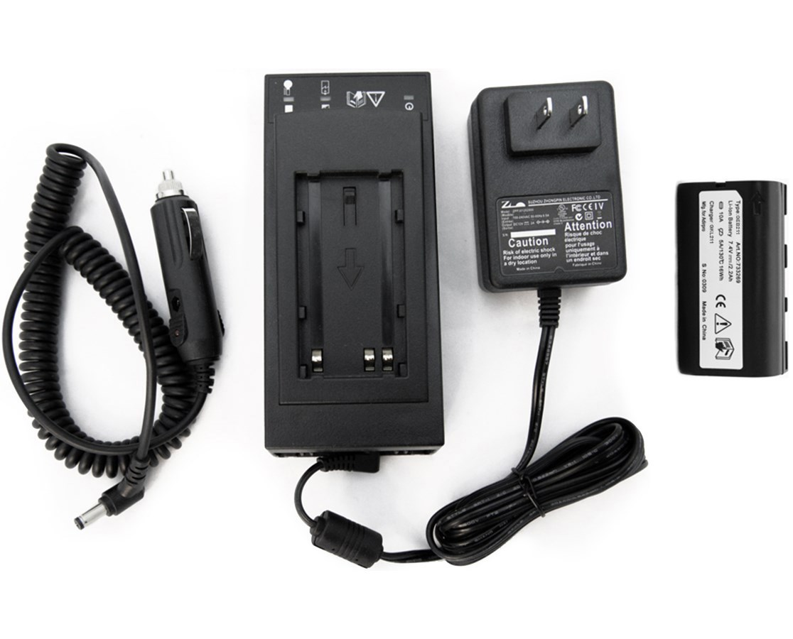 AdirPro 211211KIT Li-ion Battery & Charger Combo Pack (Leica Compatible)