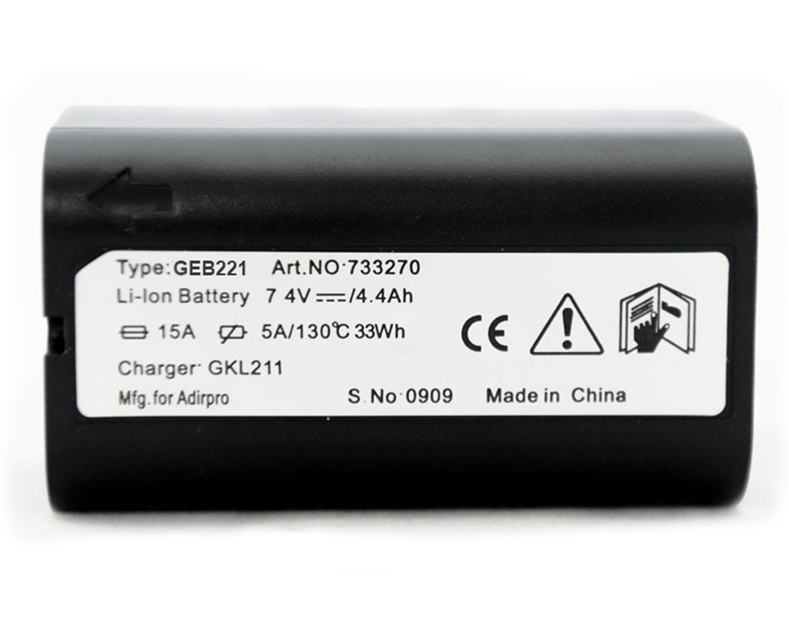 AdirPro GEB221 Li-ion Battery for Total Stations, Lasers, and GNSS Receivers (Leica Compatible)