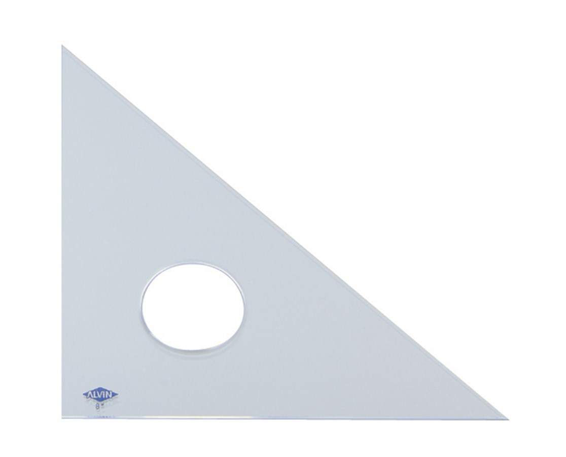 ALVIN® Professional Acrylic Triangles (45°/90° Clear Acrylic) ALV131