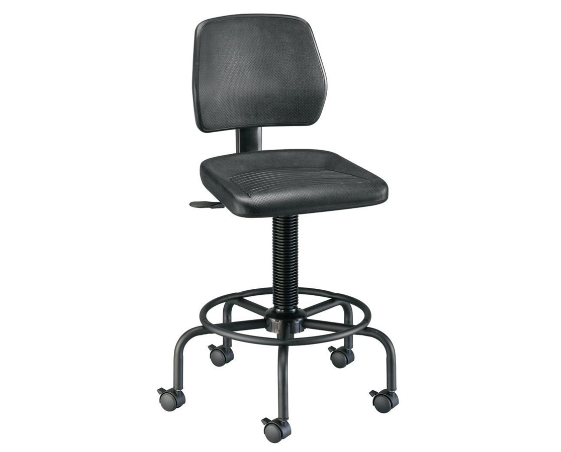 Alvin Utility Stool With Backrest DC208