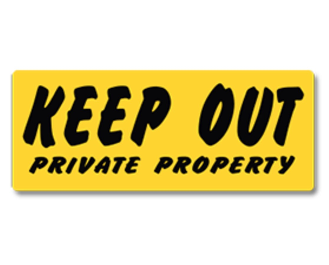 EverMark Keep Out Private Property Sign EVEYHM005-01