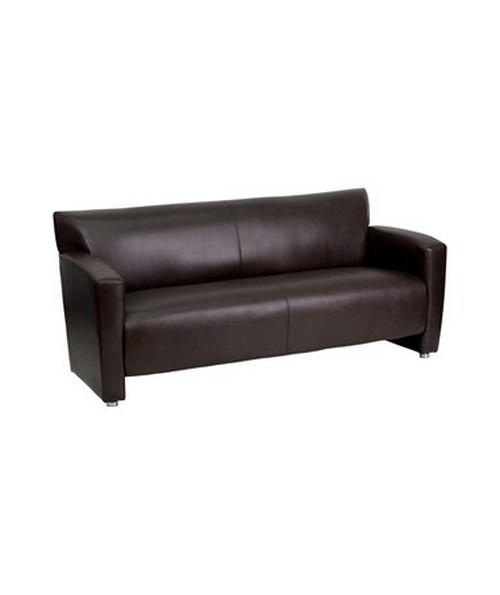 HERCULES Majesty Series Brown Leather Sofa [222-3-BN-GG] FLF222-3-BN-GG