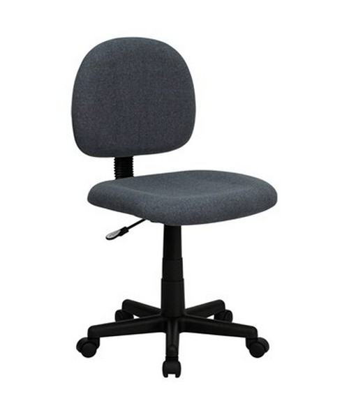 Mid-Back Ergonomic Gray Fabric Task Chair [BT-660-GY-GG] FLFBT-660-GY-GG