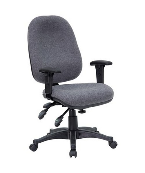 Mid-Back Multi-Functional Gray Fabric Swivel Computer Chair [BT-662-GY-GG] FLFBT-662-GY-GG