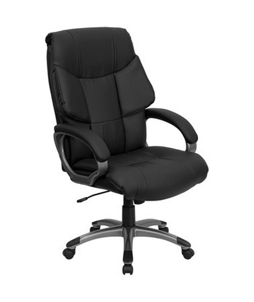 High Back Black Leather Executive Office Chair [BT-9123-BK-GG] FLFBT-9123-BK-GG