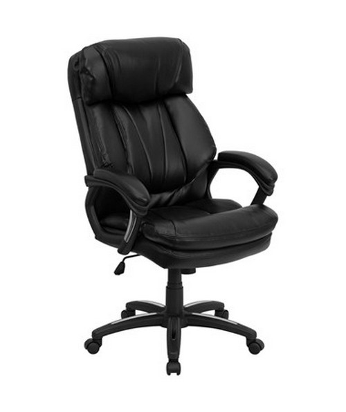 HERCULES Series High Back Black Leather Executive Office Chair [GO-1097-BK-LEA-GG] FLFGO-1097-BK-LEA-GG