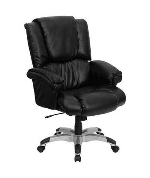 High Back Black Leather OverStuffed Executive Office Chair [GO-958-BK-GG] FLFGO-958-BK-GG