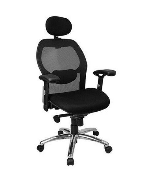 High Back Super Mesh Office Chair with Black Fabric Seat and Knee Tilt Control [LF-W42-HR-GG] FLFLF-W42-HR-GG