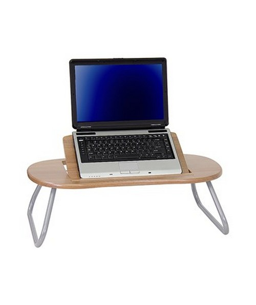 Angle Adjustable Laptop Computer Table with Dark Natural Top [NAN-JN-2779-GG] FLFNAN-JN-2779-GG