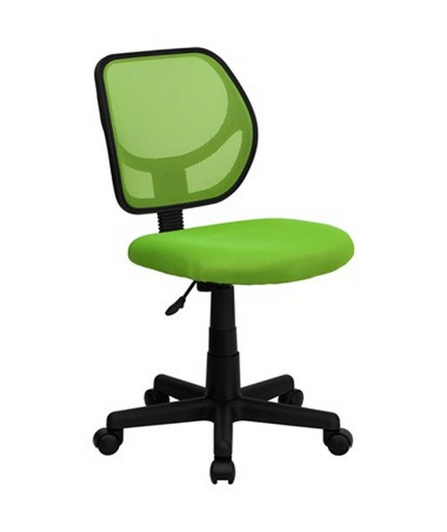 Mid-Back Green Mesh Task Chair and Computer Chair [WA-3074-GN-GG] FLFWA-3074-GN-GG