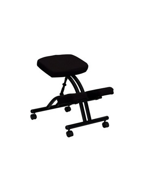 Mobile Ergonomic Kneeling Chair in Black Fabric [WL-1420-GG] FLFWL-1420-GG
