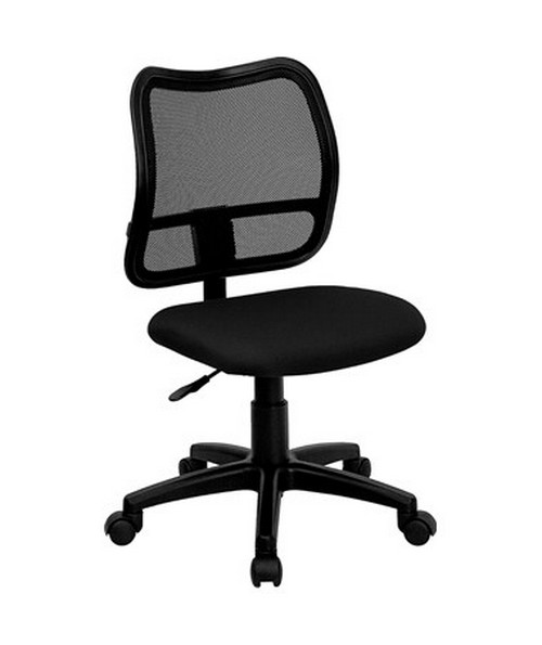 Mid-Back Mesh Task Chair with Black Fabric Seat [WL-A277-BK-GG] FLFWL-A277-BK-GG