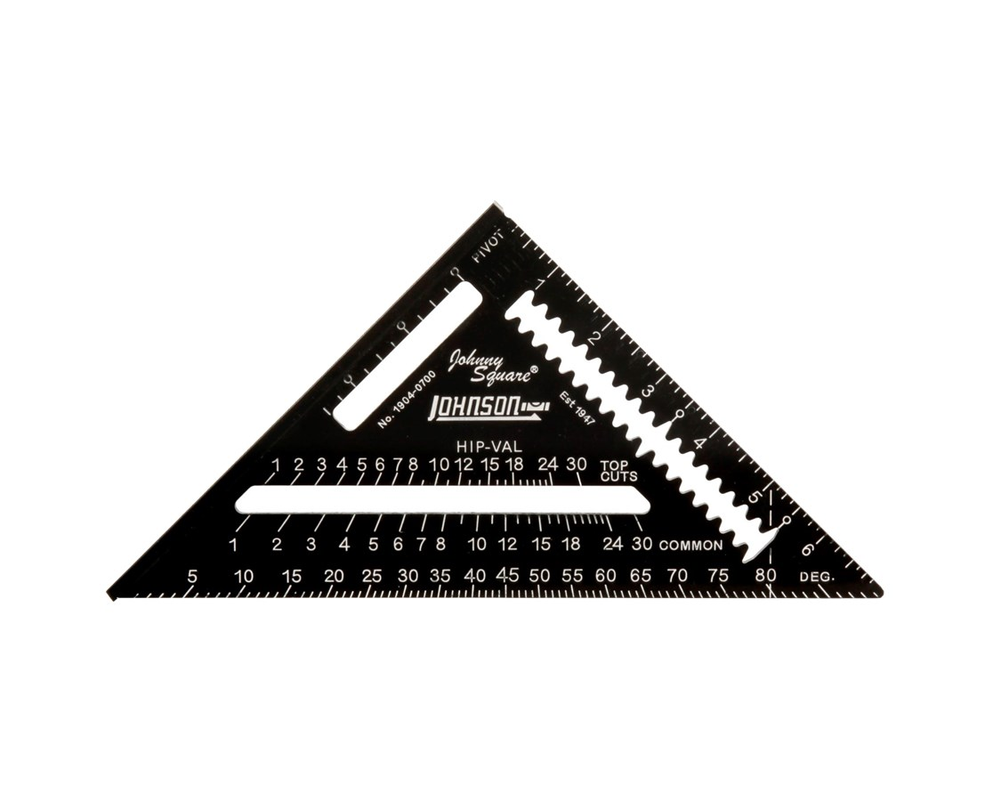 Johnson Level Johnny Square Professional Easy-Read Aluminum Rafter Square w/out Manual JOH1904-0700-