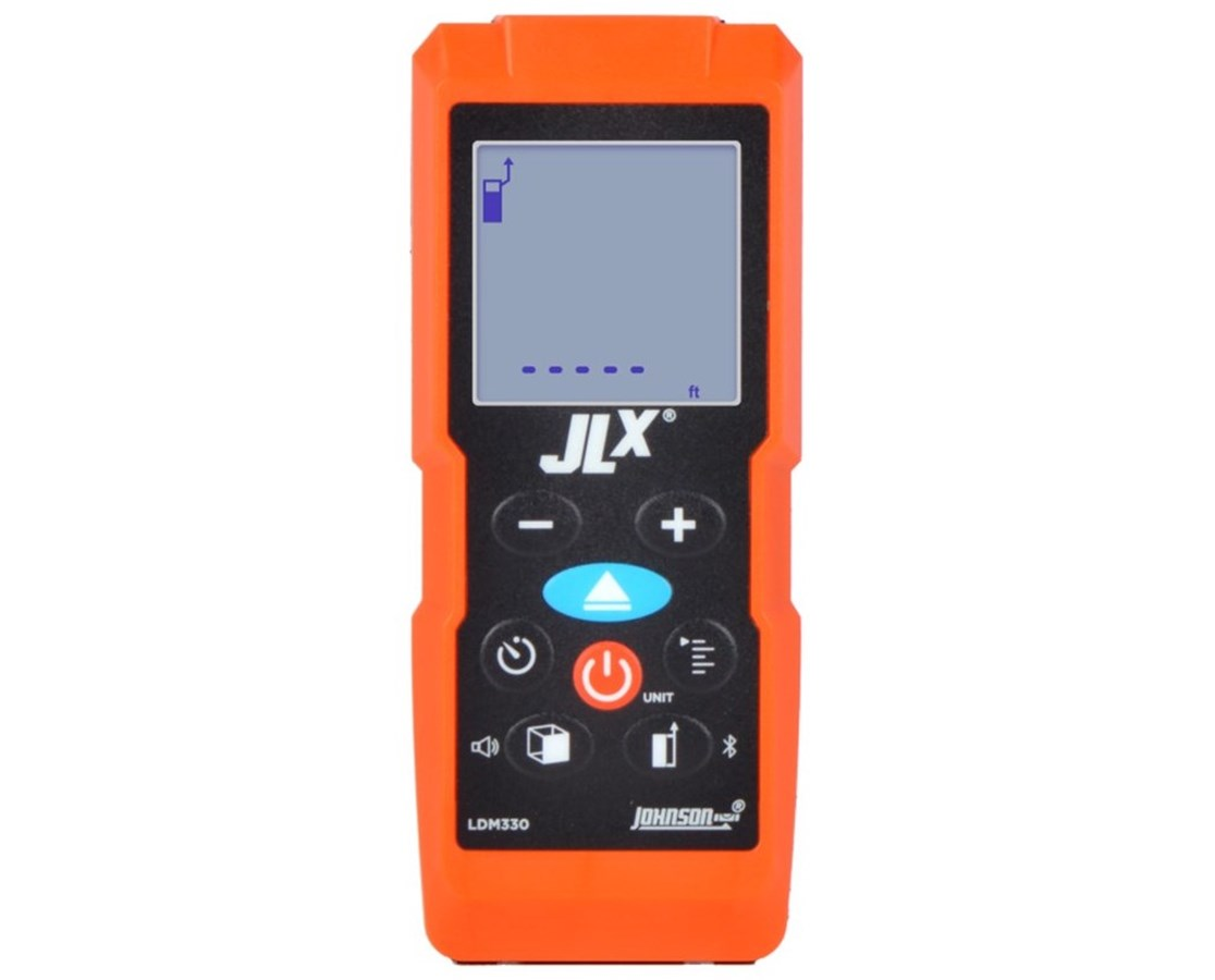 Johnson Level 330' Laser Distance Meter w/ Angle Sensor and Bluetooth JOHLDM330