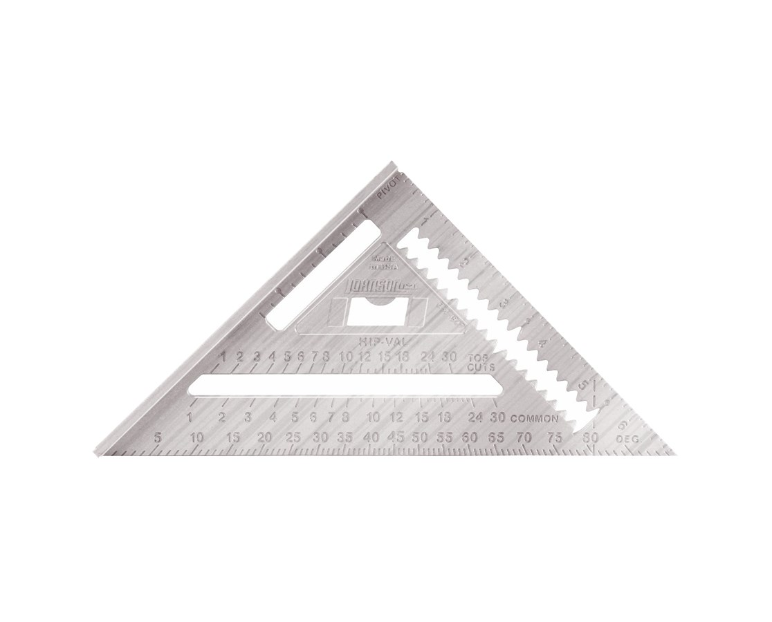 "Johnson Level 7"" Bulk Heavy-Duty Aluminum Rafter Angle Square JOHRAS-1B"