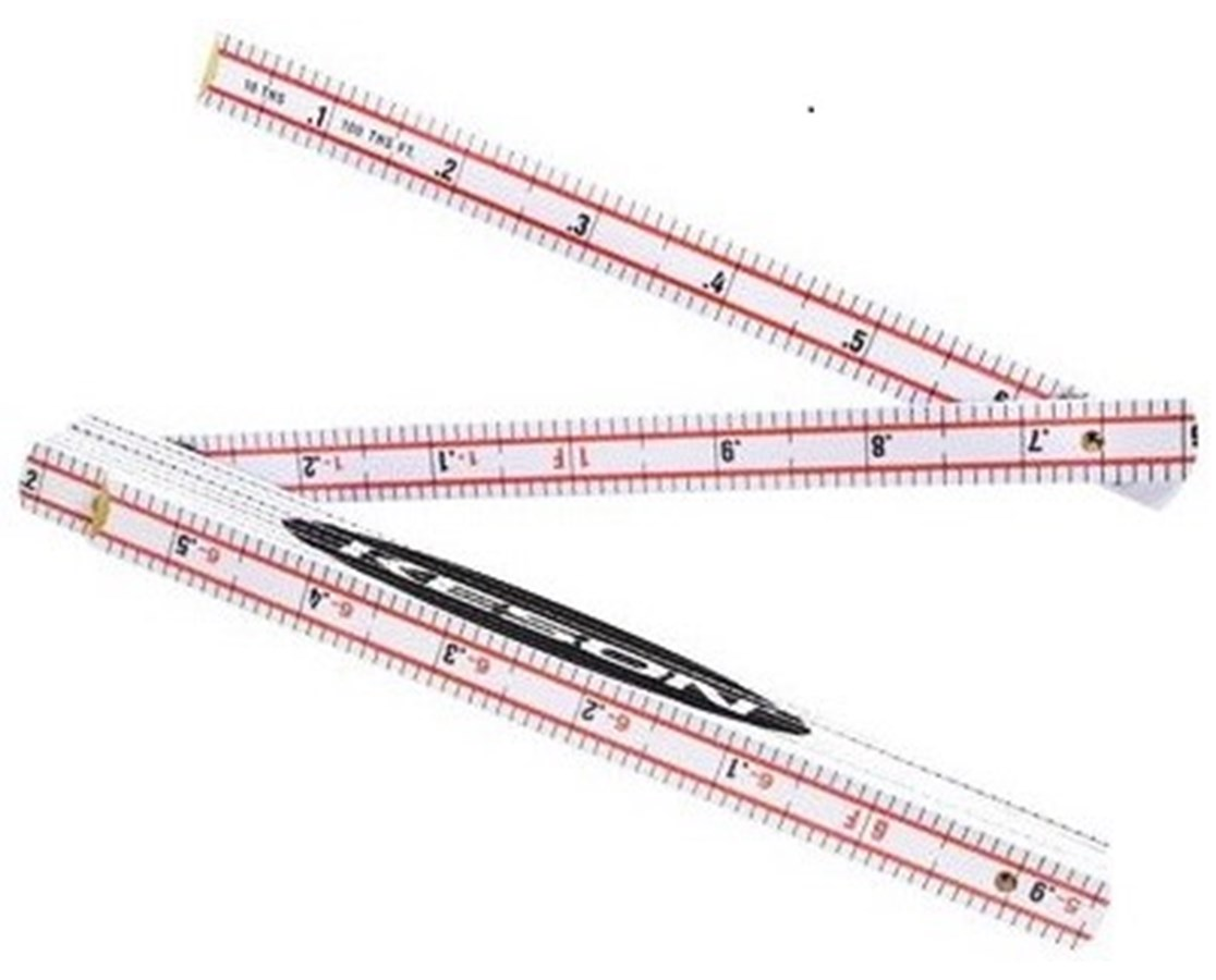 Keson Folding Wood Ruler KESWR1018-