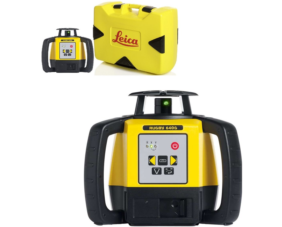 Leica Rugby 640G Green Rotary Laser LEI845495-