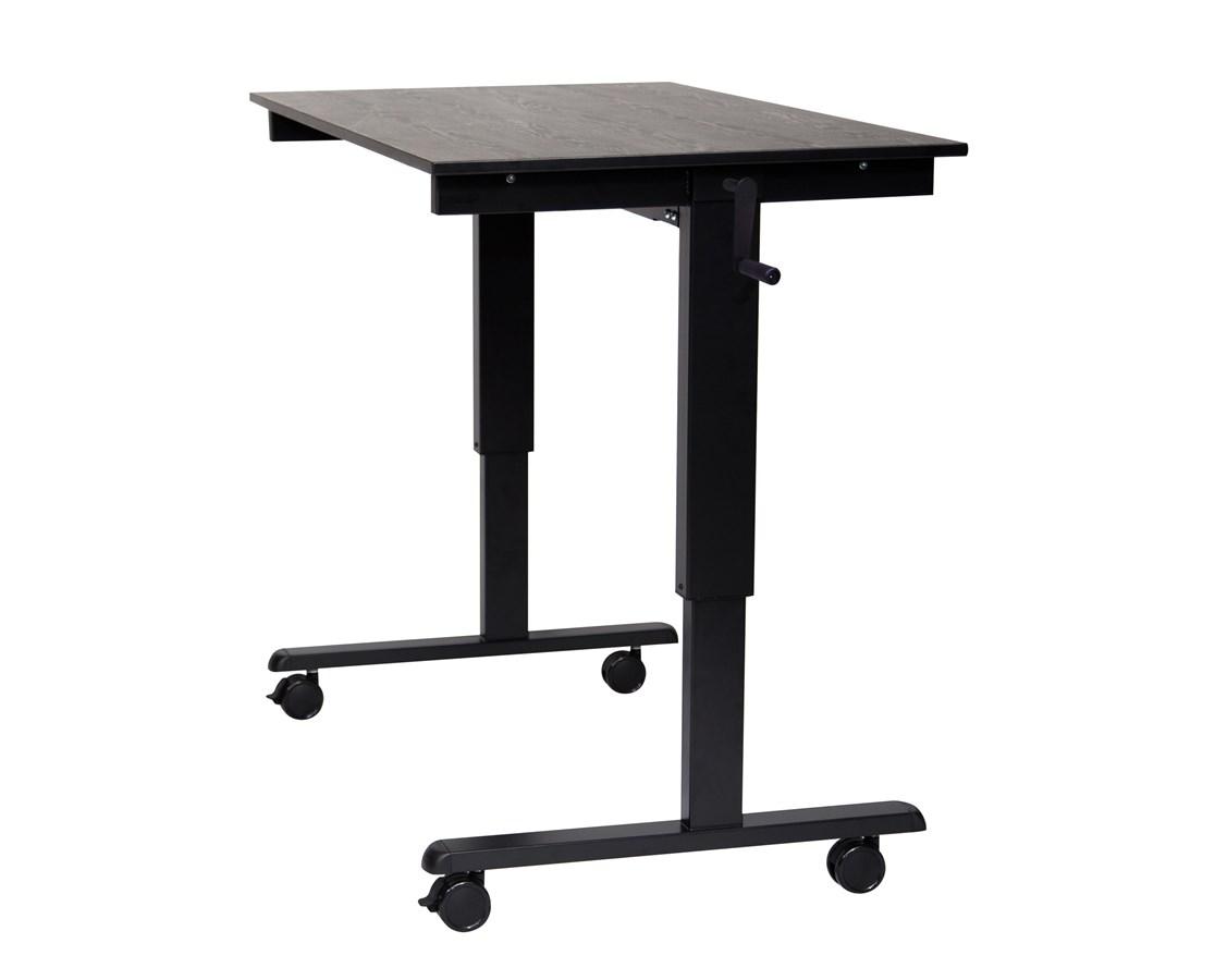 Luxor Crank Adjustable Stand Up Desk Tiger Supplies