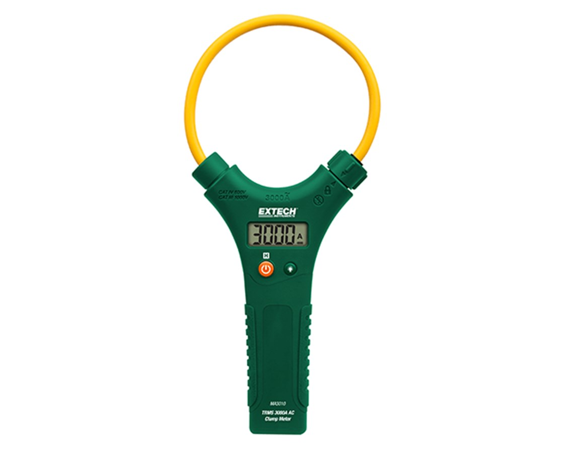 Extech CAT IV True RMS 3000A AC Flex Clamp Meters MA3010-