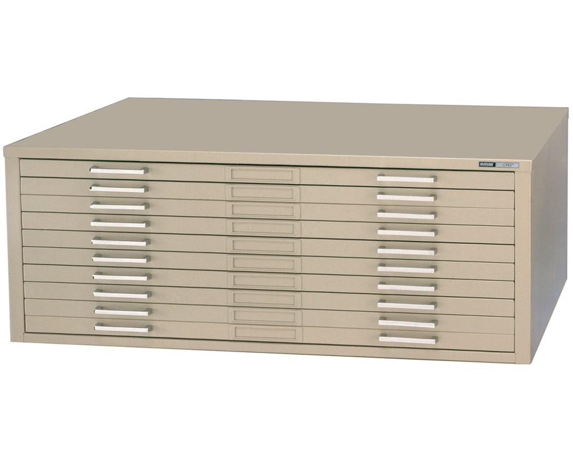 Mayline C-File 10-Drawer Steel Flat File Tiger Supplies