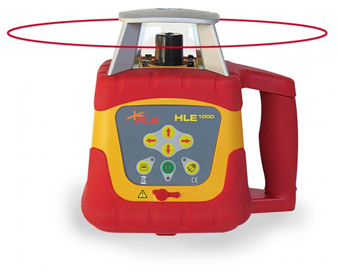 Pacific Laser Systems HLE 1000 Exterior Dual Slope Self-Leveling Horizontal Rotary Laser with HLD 1000 Detector PLS60569