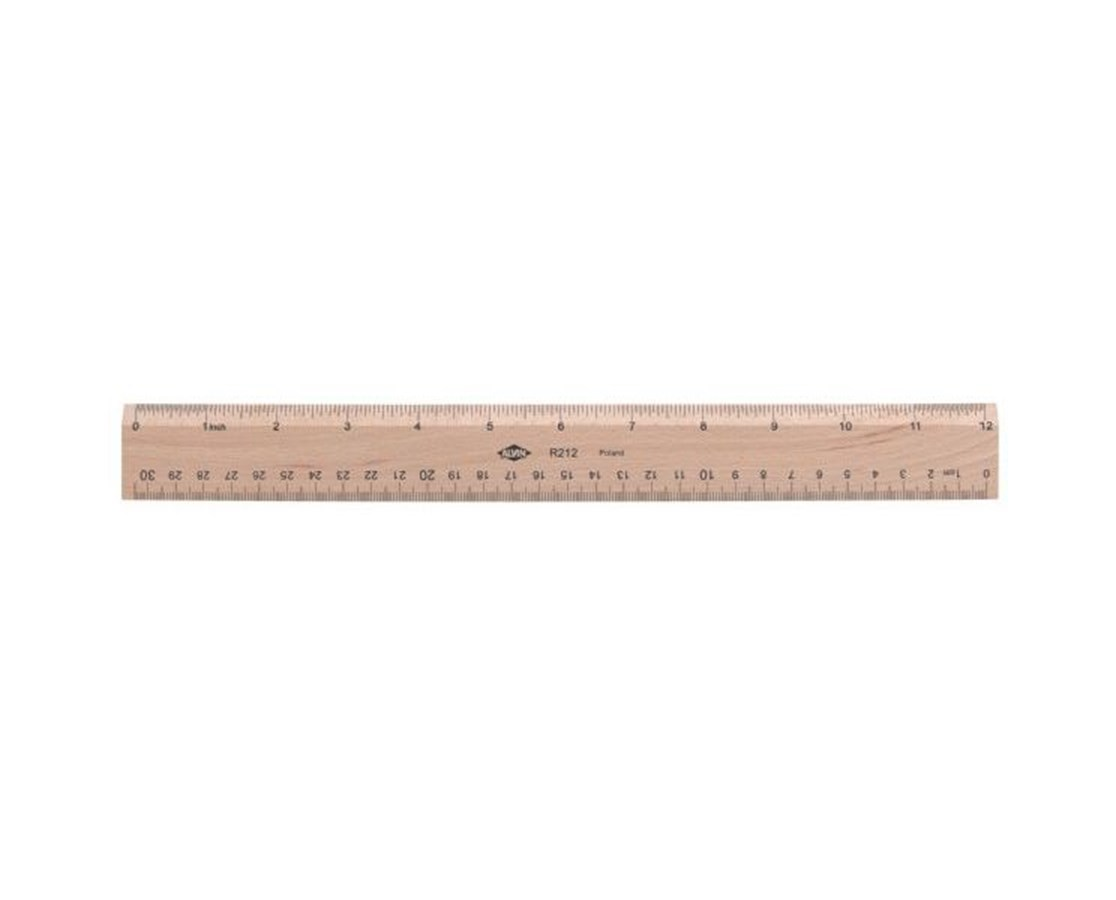 Wooden Ruler 12 Inch Metric Tiger Supplies