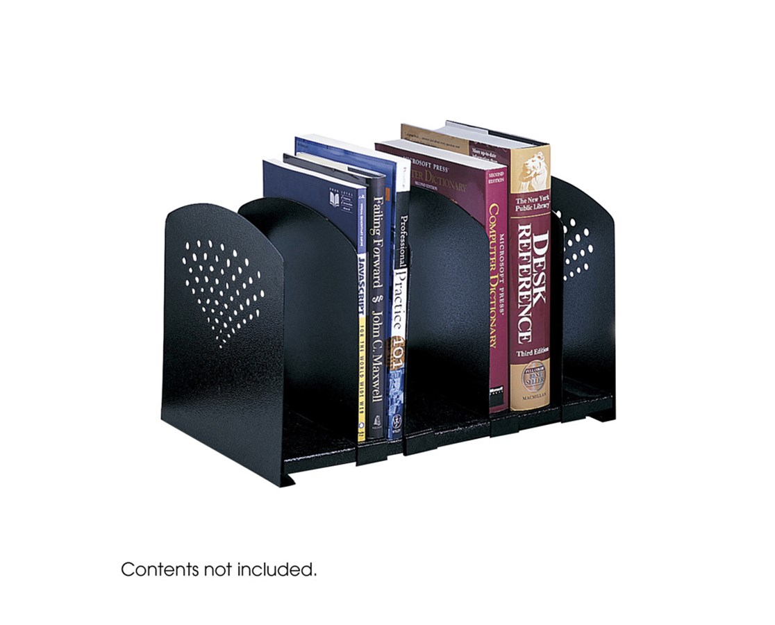 SAFCO Five Section Adjustable Bookrack Black SAF3116BL