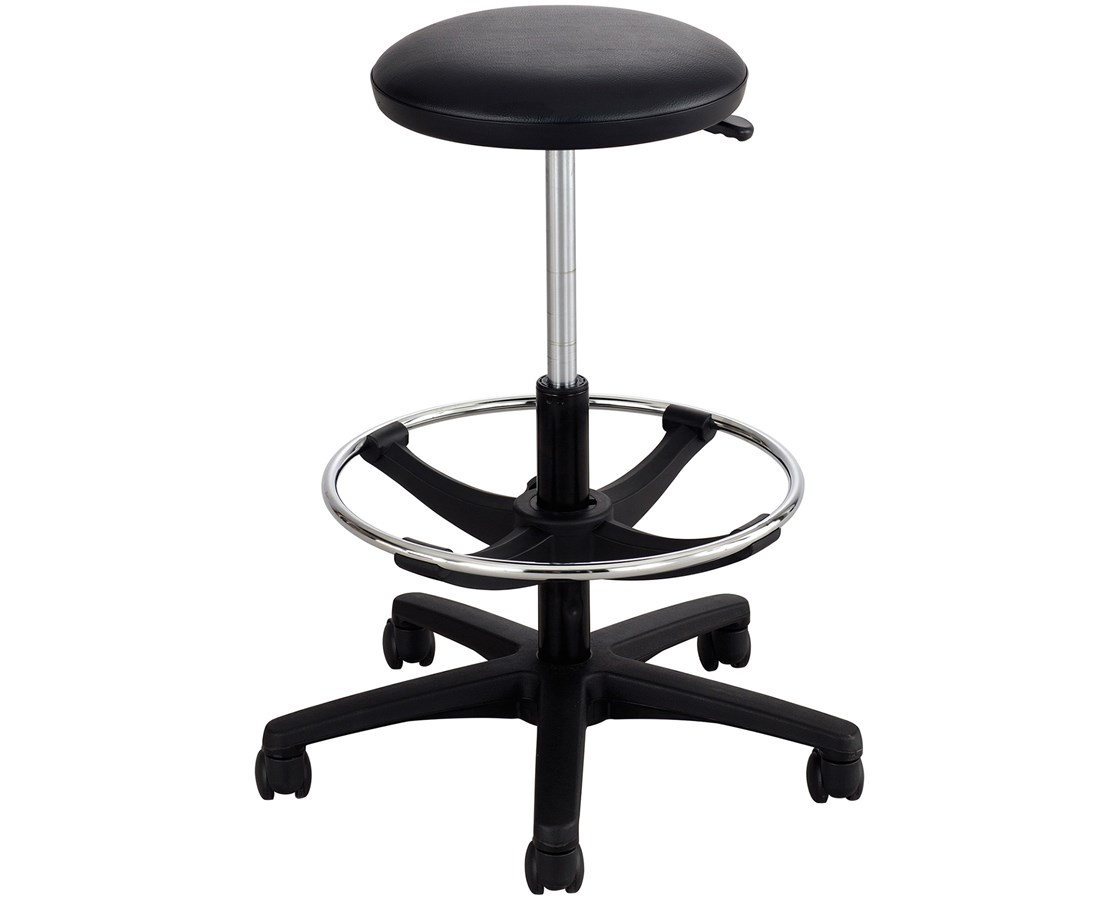 Safco Extended-Height Black Lab Stool SAF3436BL