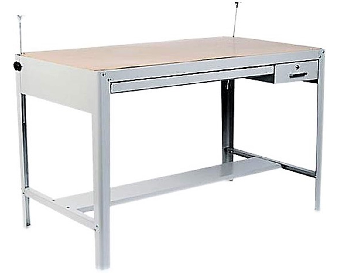 Safco Precision Steel Gray Drafting Table Base SAF3962GR