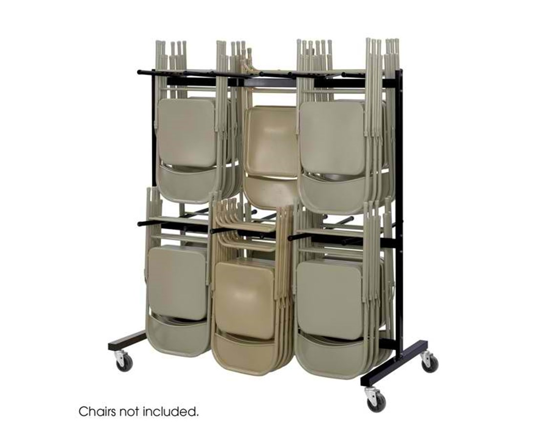 Safco Two-Tier Chair Cart SAF4199BL