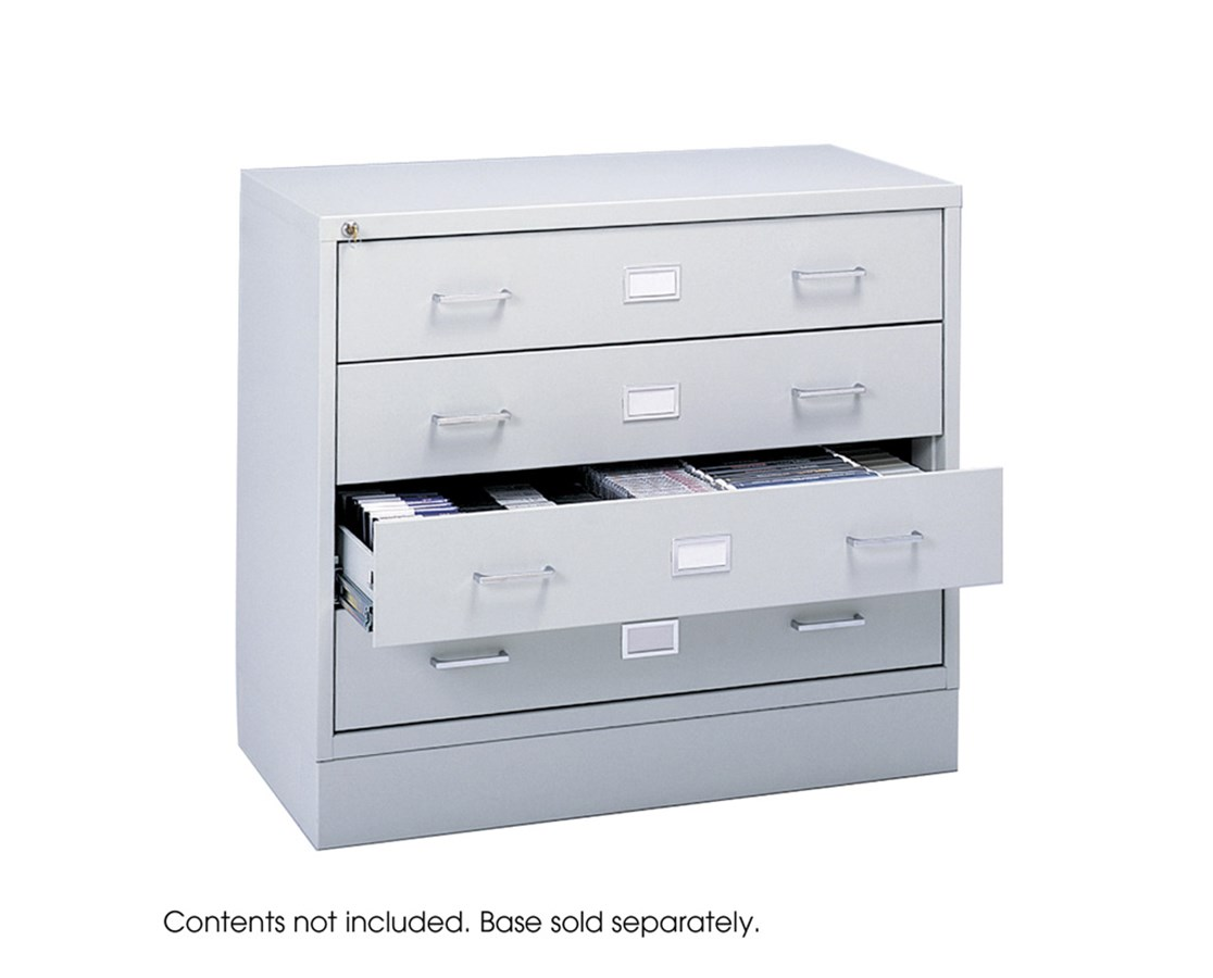 SAFCO4935LG-Audio/Video Microform Cabinet Light Gray SAF4935LG