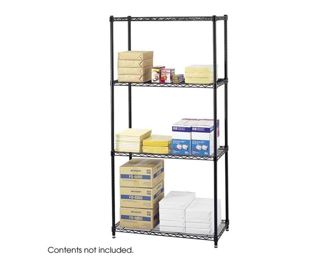 "Safco Commercial Wire Shelving, 36 x 18"" SAF5276BL"
