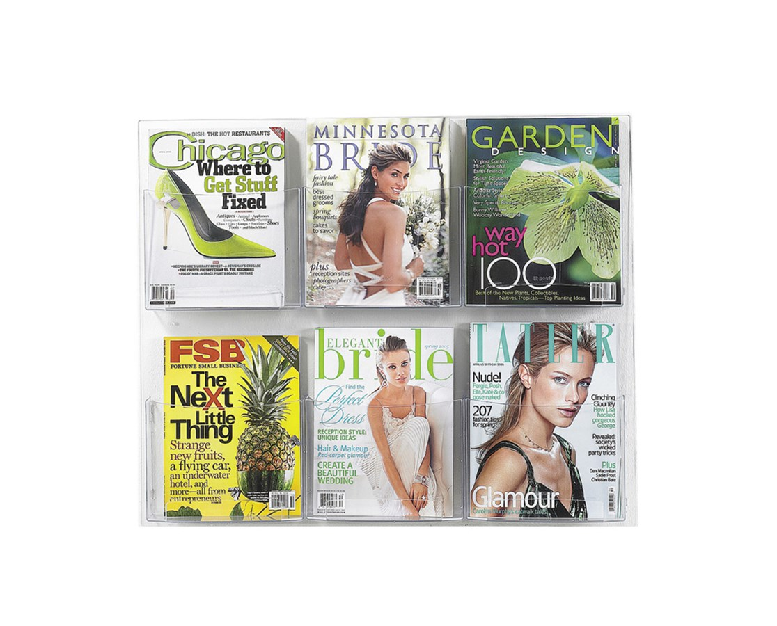 SAFCO5667CL-Clear2c™ 6 Magazine Display Clear SAF5667CL