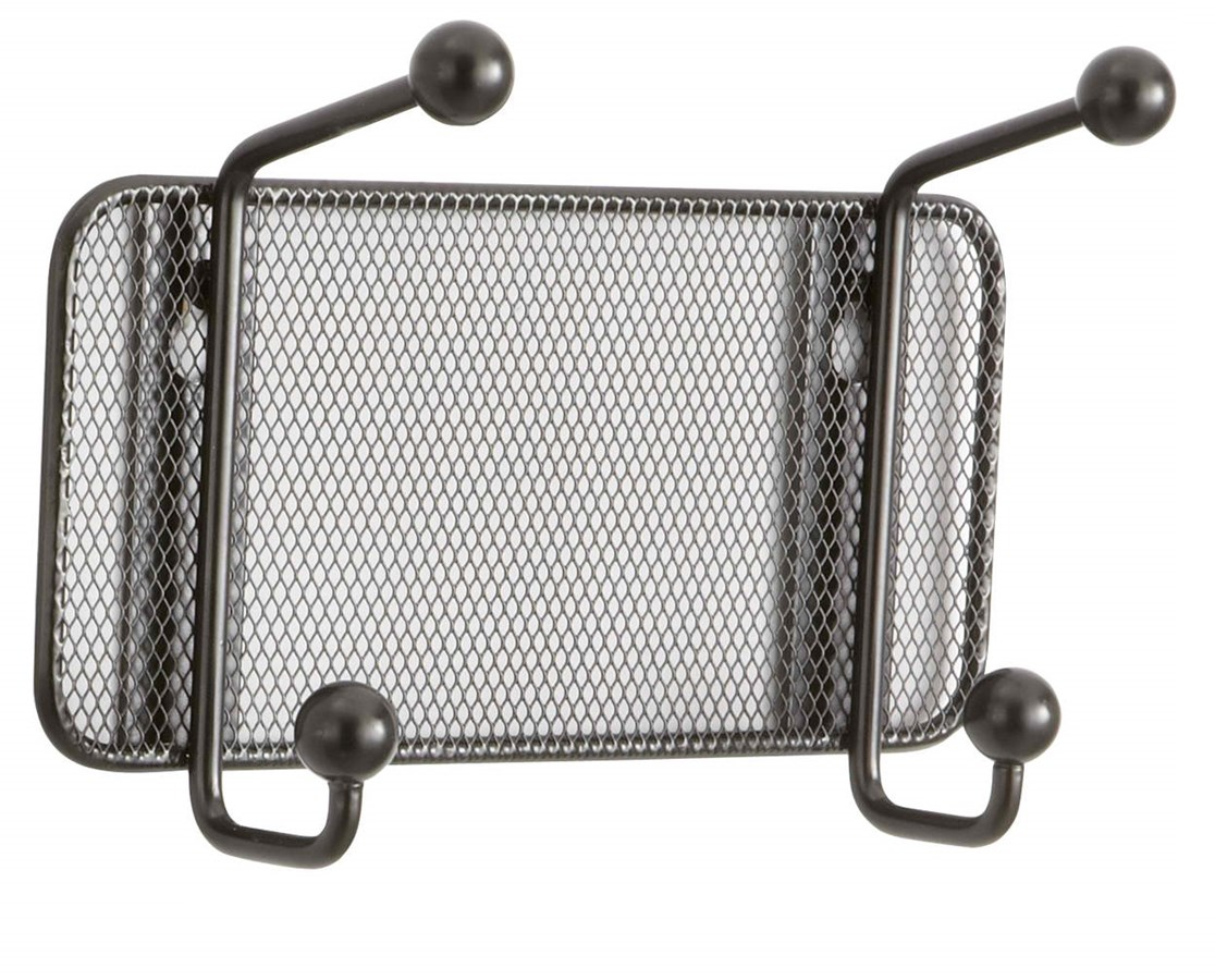 Safco Onyx 2 Hook Mesh Wall Rack (Qty. 6) SAF6401BL-