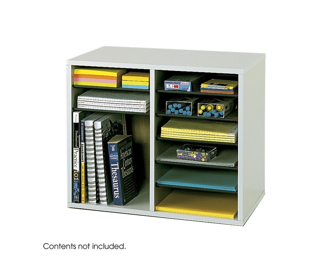 SAFCO9420-Wood Adjustable Literature Organizer - 12 Compartment SAF9420