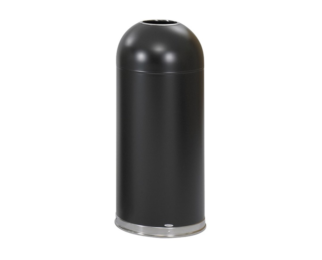 Safco Open Top Dome Receptacle, 15 Gallons SAF9639BL-