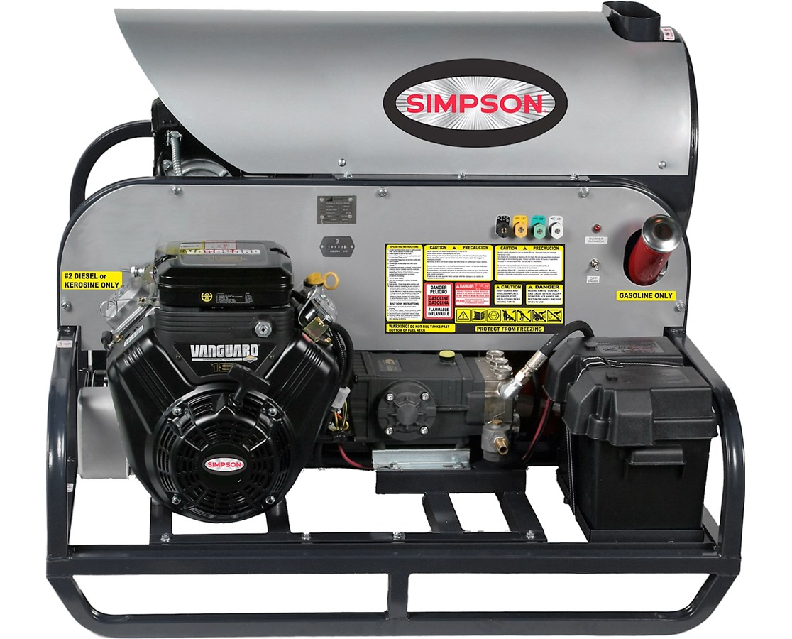 Simpson 3500PSI Hot Water Skid Power Washer SIMSB3555