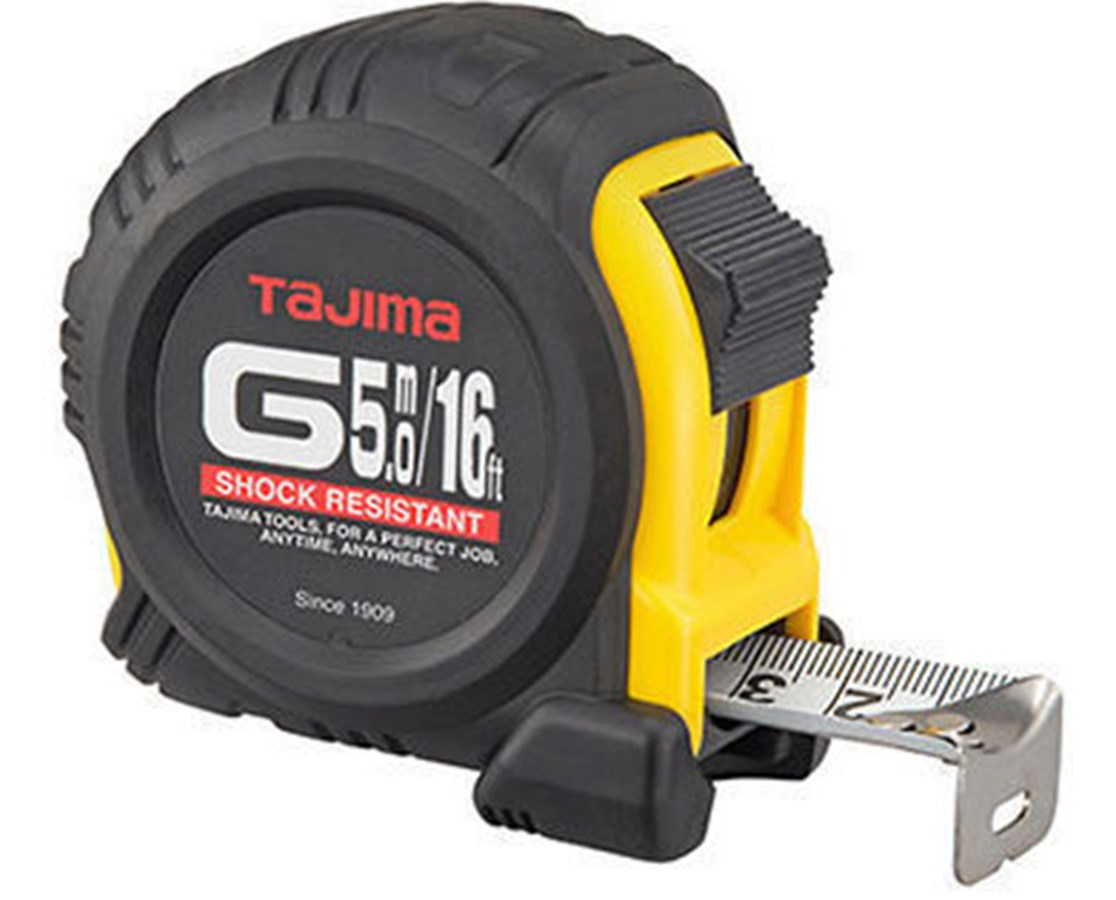 Tajima G-Series Dual Scale Standard And Metric Tape Measure