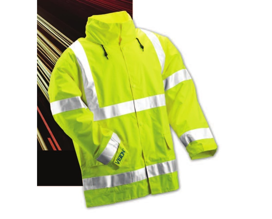 "ANSI 107 Class 3 Fluorescent Yellow-Green Jacket with 2"" Silver Reflective Tape TINJ23122"