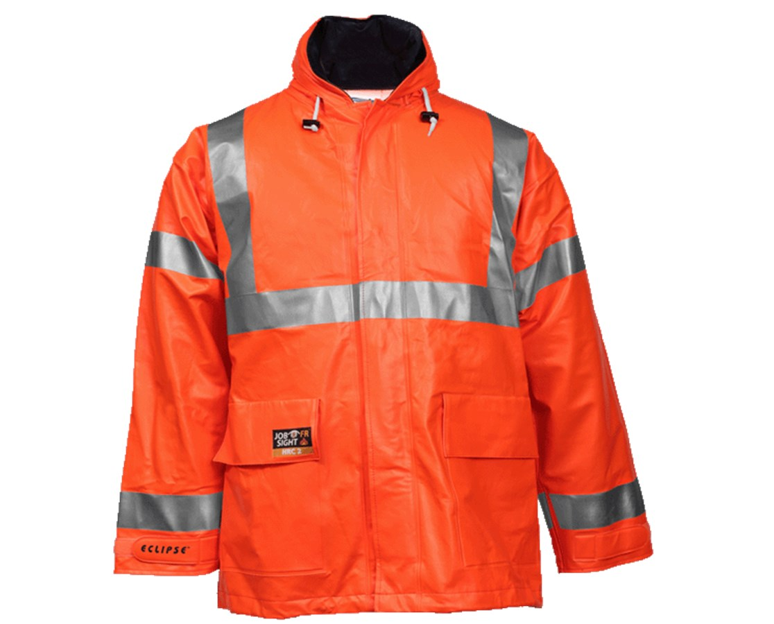 High Visibility Fluorescent Orange Red Jacket