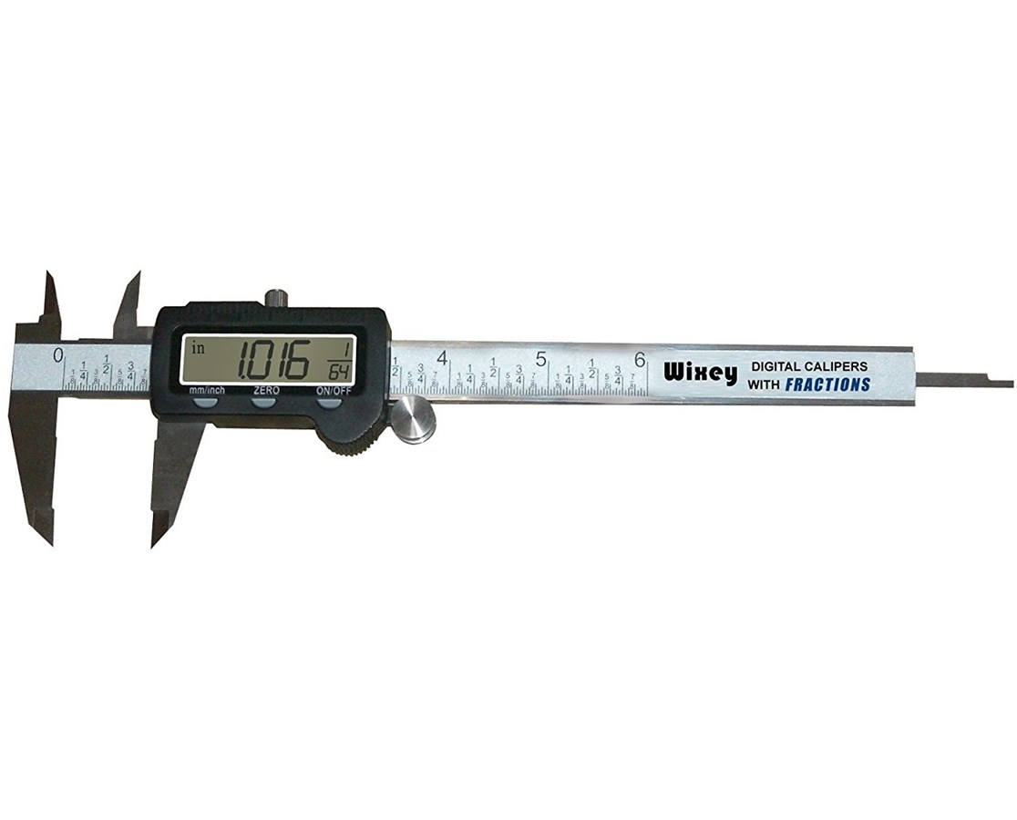 Wixey WR100 Digital Calipers with Fractions WIXWR100