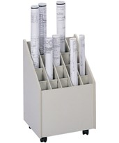 Safco Mobile 20-Compartment Roll File 3082