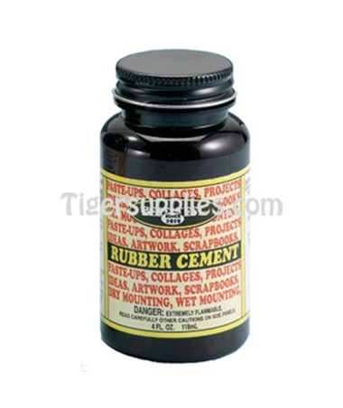 RUBBER CEMENT 8oz PLAS BTL 12320