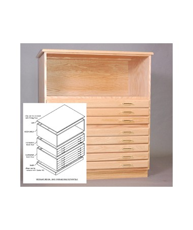 SMI Bookshelf for 24 x 36 Oak Plan File F2436 S