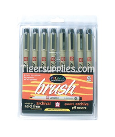 PEN BRUSH SET 8PK ASSTD 38062