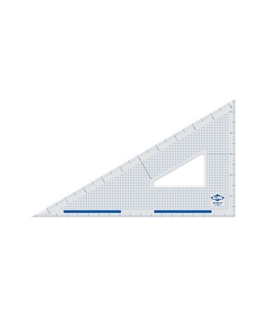 ALVIN Academic Transparent Triangles 30/60 12 S1390-120