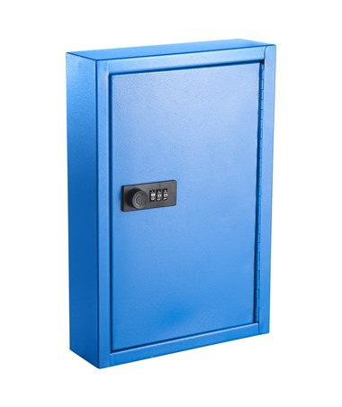 AdirOffice Key Cabinet with Combination Lock, 40 Hooks Blue