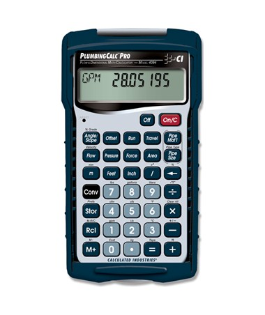 Calculated Industries PLUMBINGCALC PRO CAL4094
